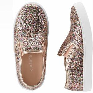 Carters Toddler multi-color glitter shoe - Size 8